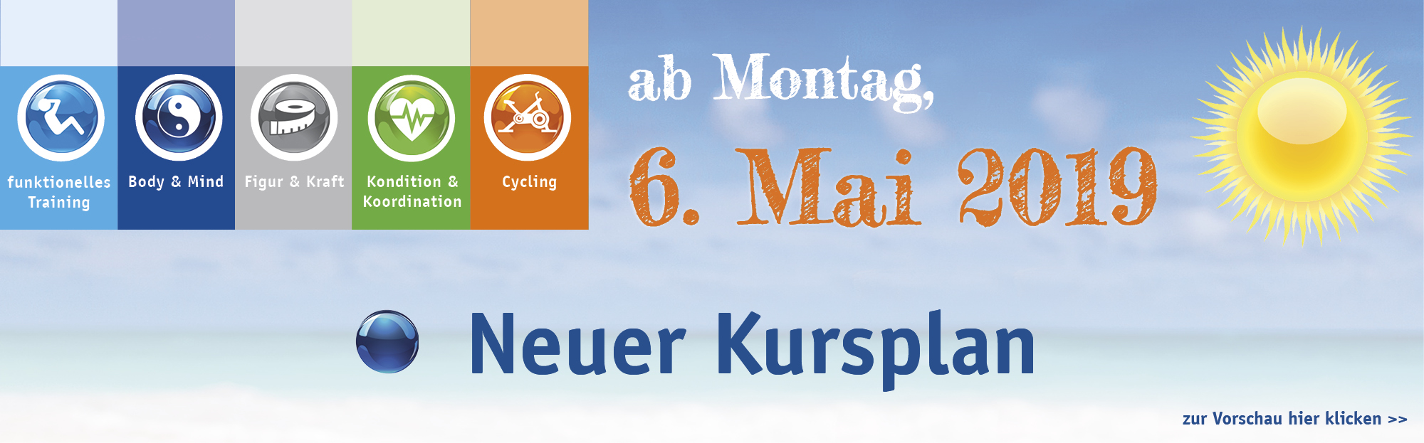 neuer Kursplan ab 06.05.2019 Background