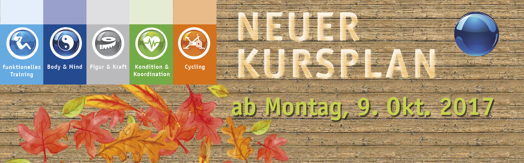 Neuer Kursplan ab 9.10.2017 Background