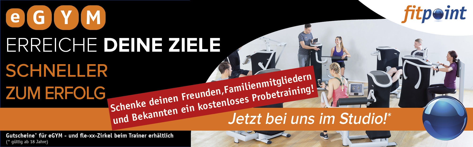 eGYM-Gutschein Probetraining Background